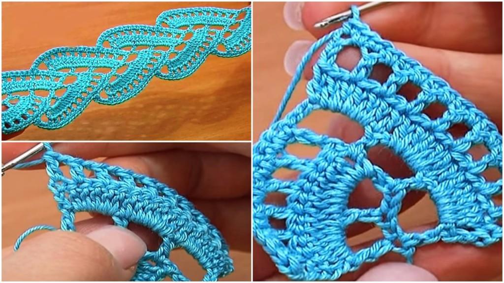 Crochet Lace Tutorial For Beginner : Crochet Stripy Tape Lace Tutorial - ilove-crochet