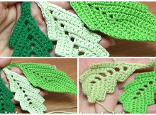 Crochet Two-Side Leaf With Chain Spaces