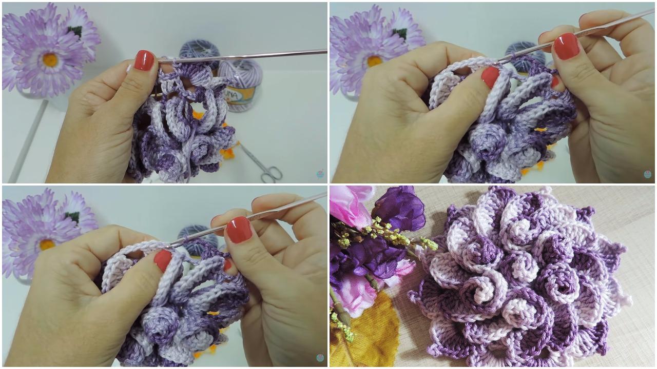 How To Crochet This Beautiful Flower Tutorial Ilove Crochet