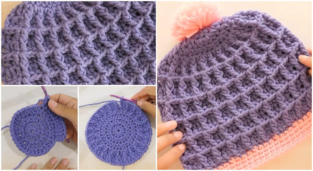 ... Waffle Hat Craftsy 5465b cda9b  pretty nice crocheters who love elegant  and cute hats 38e696f4049