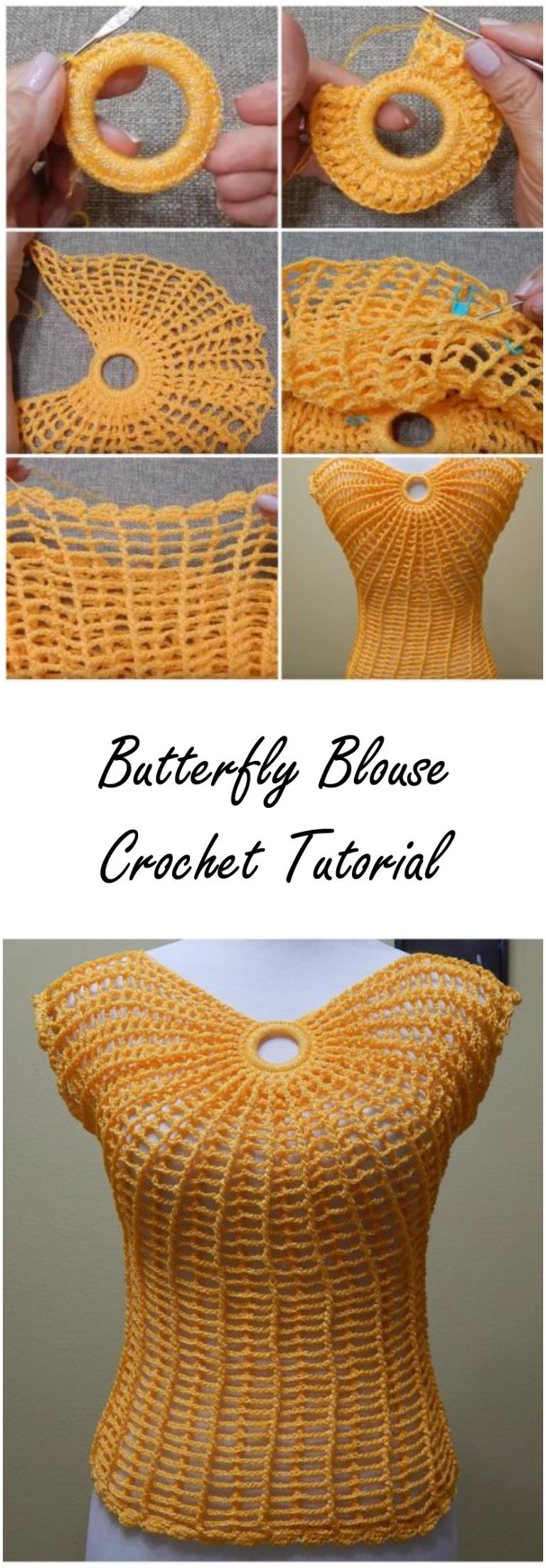 Butterfly Blouse Crochet Tutorial