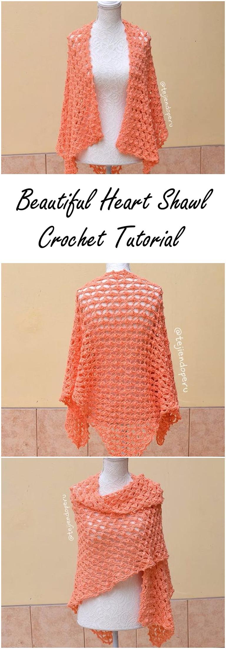 Beautiful Heart Shawl Crochet Tutorial
