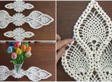 Crochet Pineapple Doily Table Runner