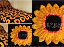 Crochet Sunflower Blanket
