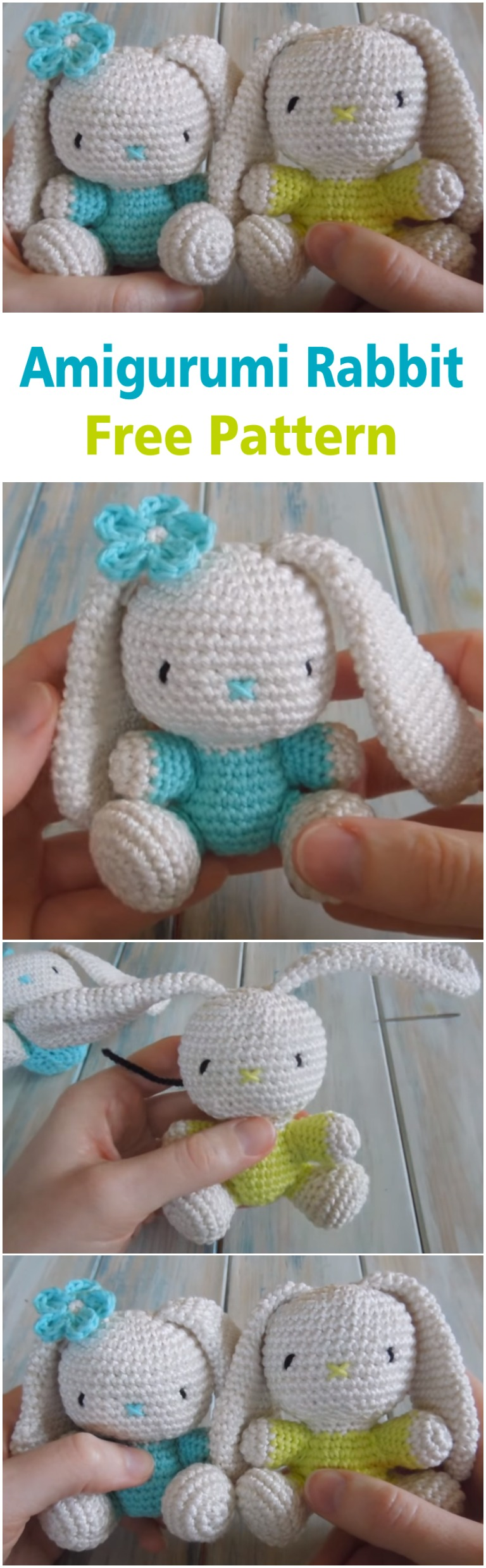 Pinky The Rabbit Amigurumi Crochet Pattern : Crochet an Amigurumi Rabbit - ilove-crochet