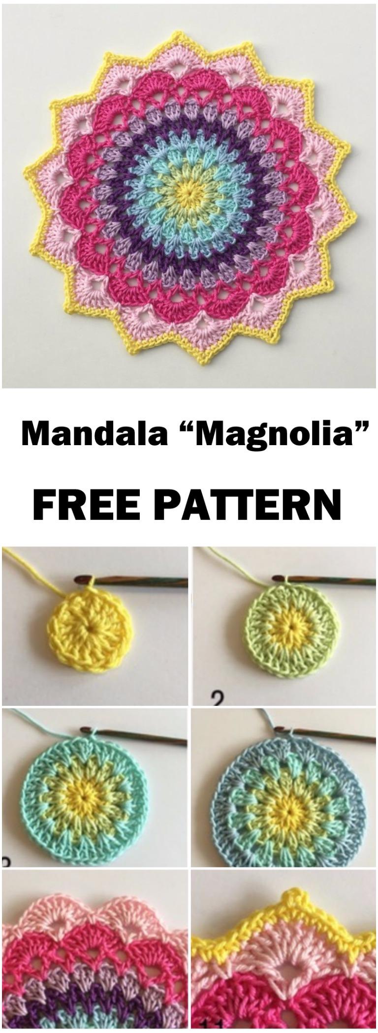 "Mandala ""Magnolia"" – Free Pattern"