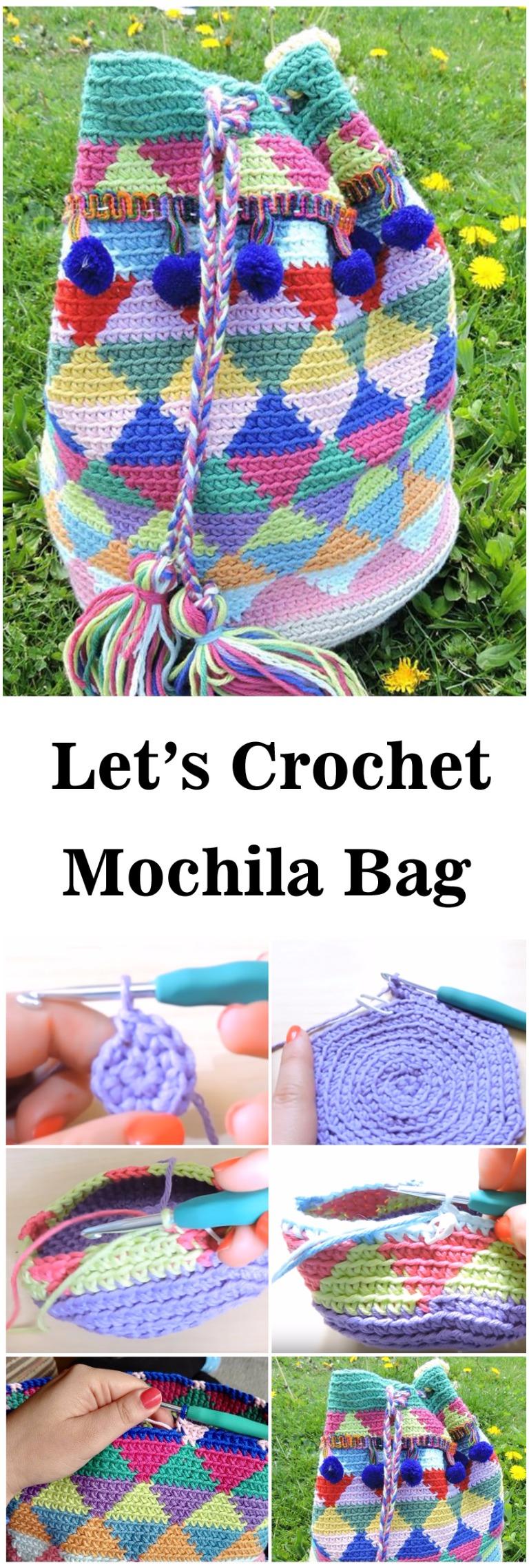 Multicolored Mochila Bag Crochet