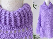 Basic Poncho With Crochet Collar