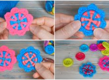 Crochet A Flower Button