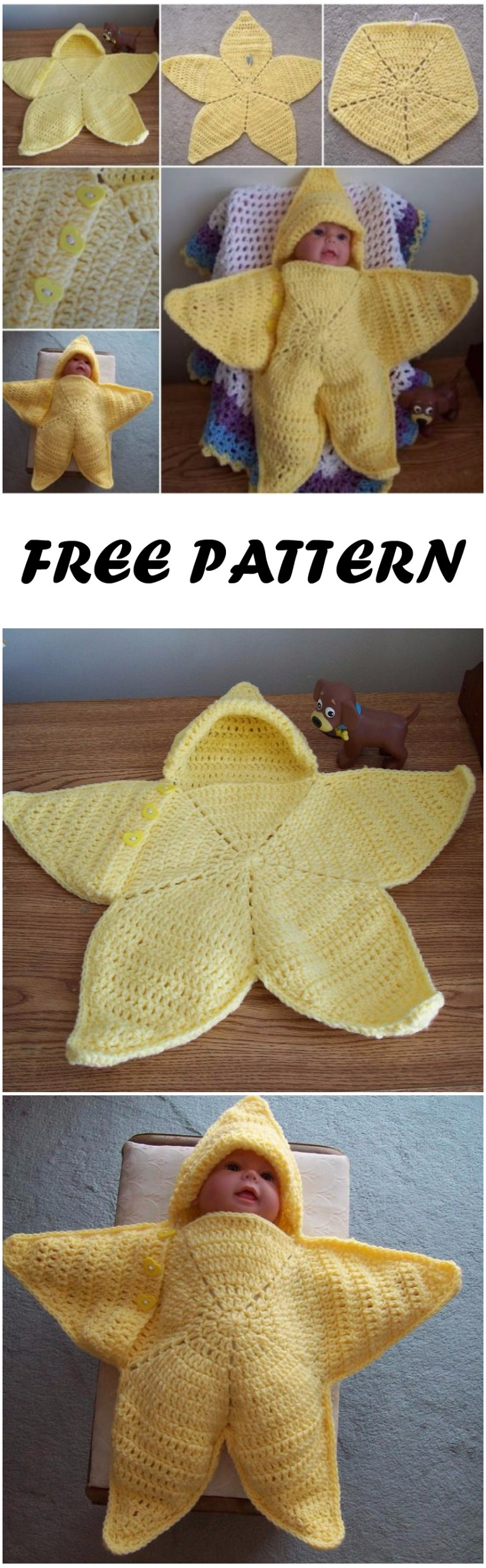Crochet Baby Bunting Twinkle Little Star Free Pattern