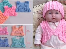 Crochet Colorful Baby Jacket