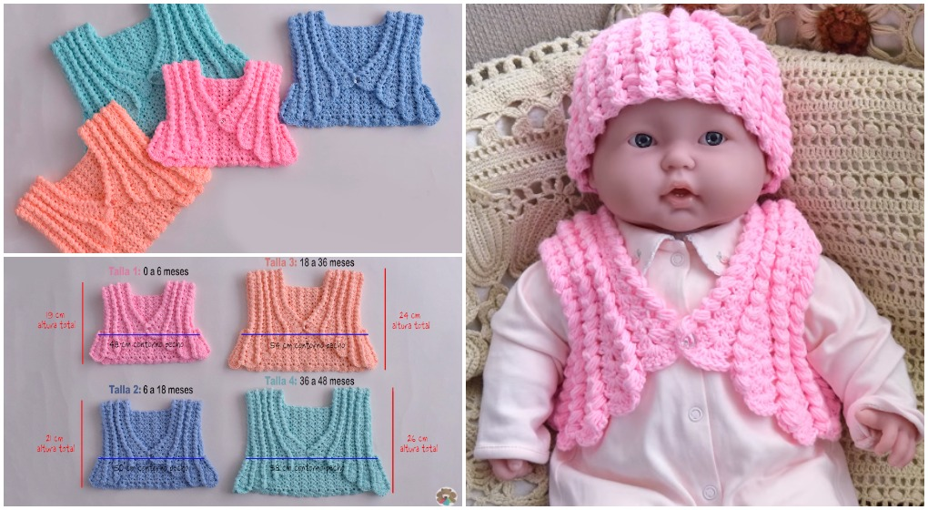 Crochet Colorful Baby Jacket