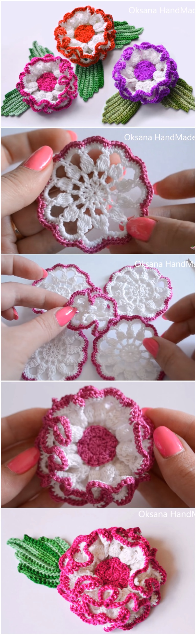 Crochet Daisy Flower Step By Step