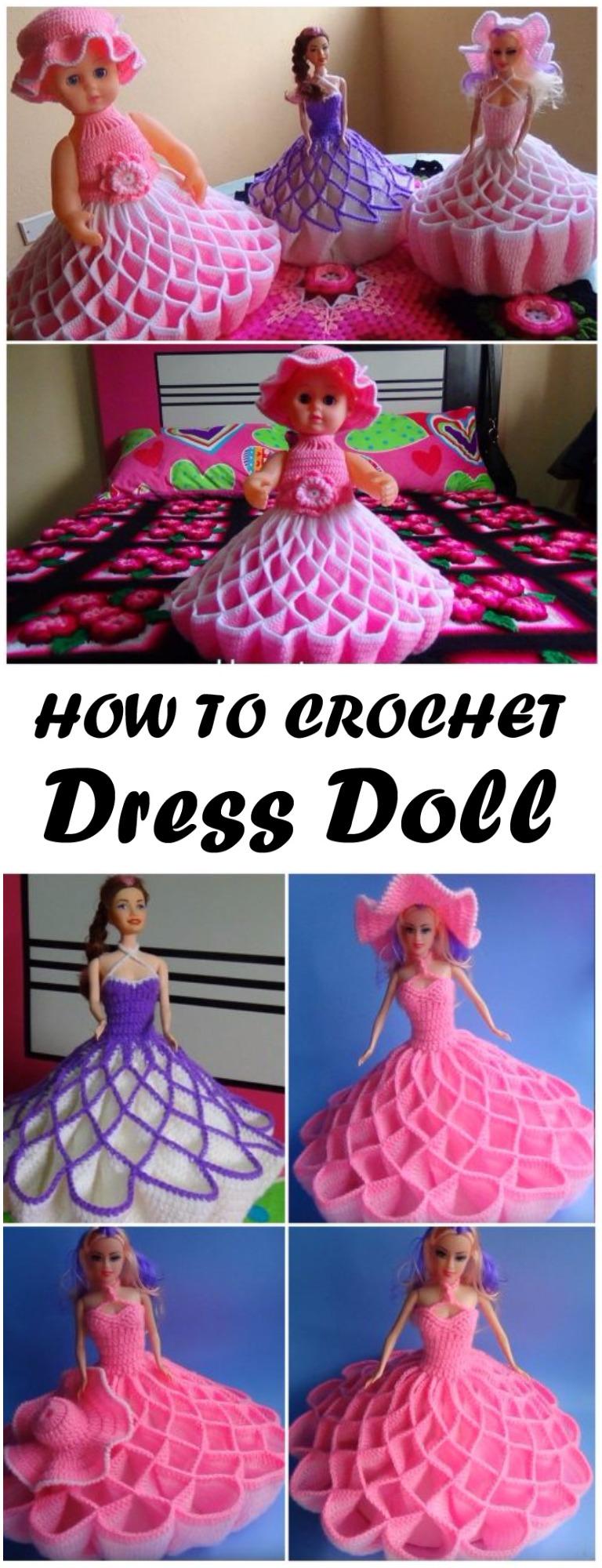 Crochet Doll Dress Step By Step