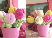 Crochet Flower Tulip Free Pattern