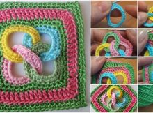 Crochet Square Motif With Rings