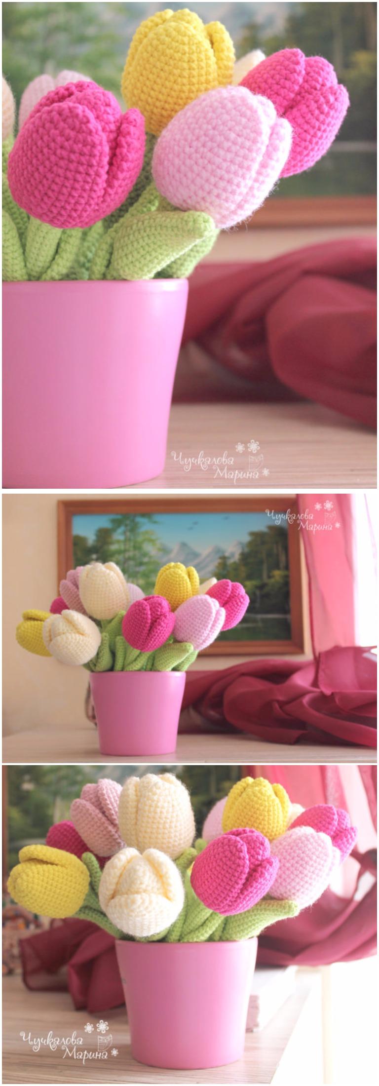 Crochet Tulip Flower Free Pattern