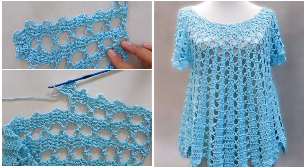 Crochet Wide Blouse Step By Step