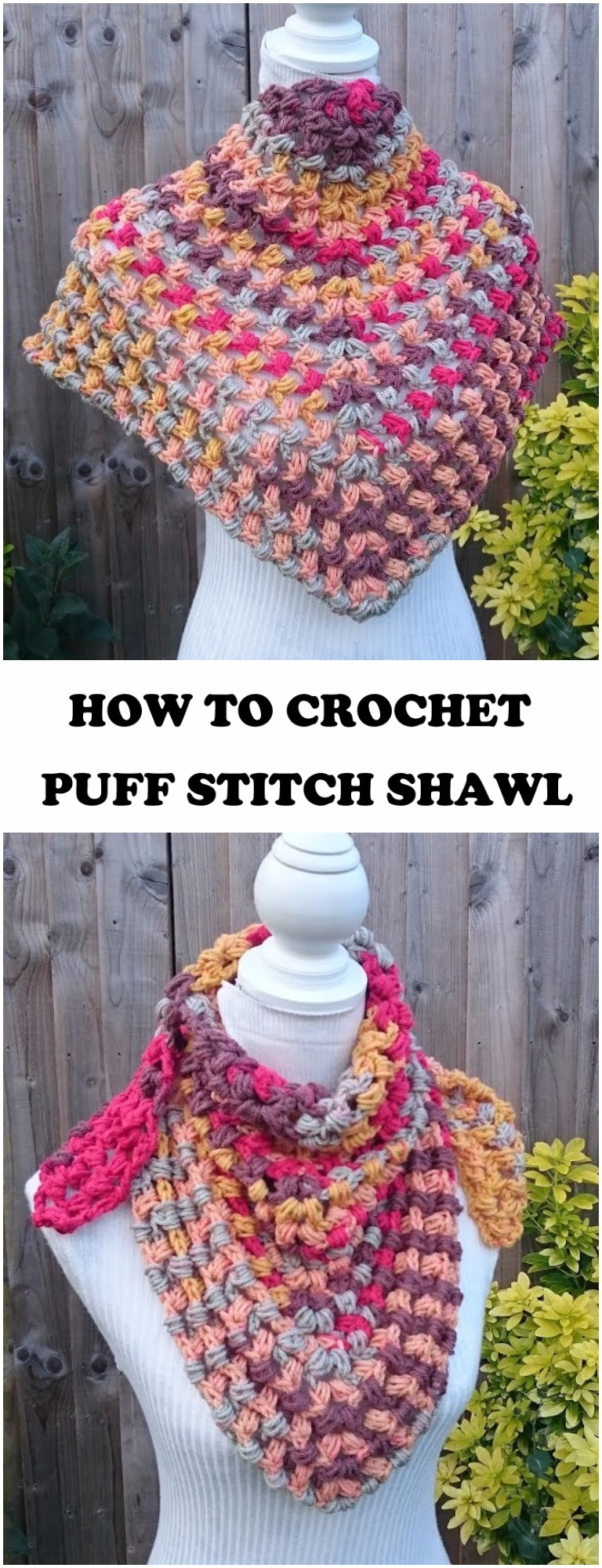 How to Crochet Puff Stitch Shawl