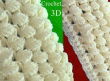 Scarf In 3D Point Of Reversible Leaves