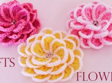 Very Beautiful Fast And Easy Crochet Flower