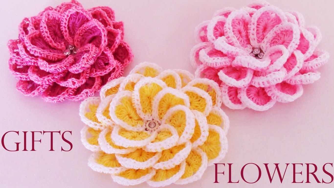 Very beautiful fast and easy crochet flower ilove crochet izmirmasajfo Image collections
