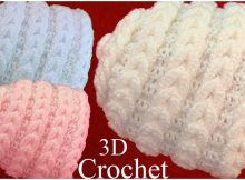Beanie Hat In 3D Point Braided Eyelet