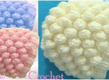 Crochet 3D Beanie Hat With Snow Balls Stitch