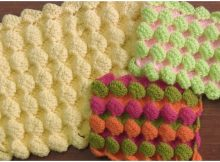 Crochet 3D Bubbles Stitch