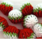 Crochet 3D Garland Spheres Strawberries Stitch