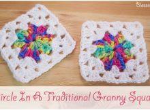 Crochet Circle In A Granny Square