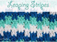 Crochet Leaping Stripes Blanket