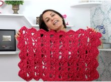 Crochet Rectangle Rug Free Pattern [Video]