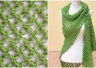 Crochet Shawl In Solomon's knot Stitch