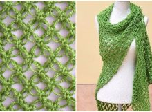 Crochet Shawl In Solomon's knot Stitch