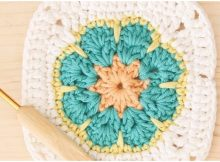 Crochet Square African Flower