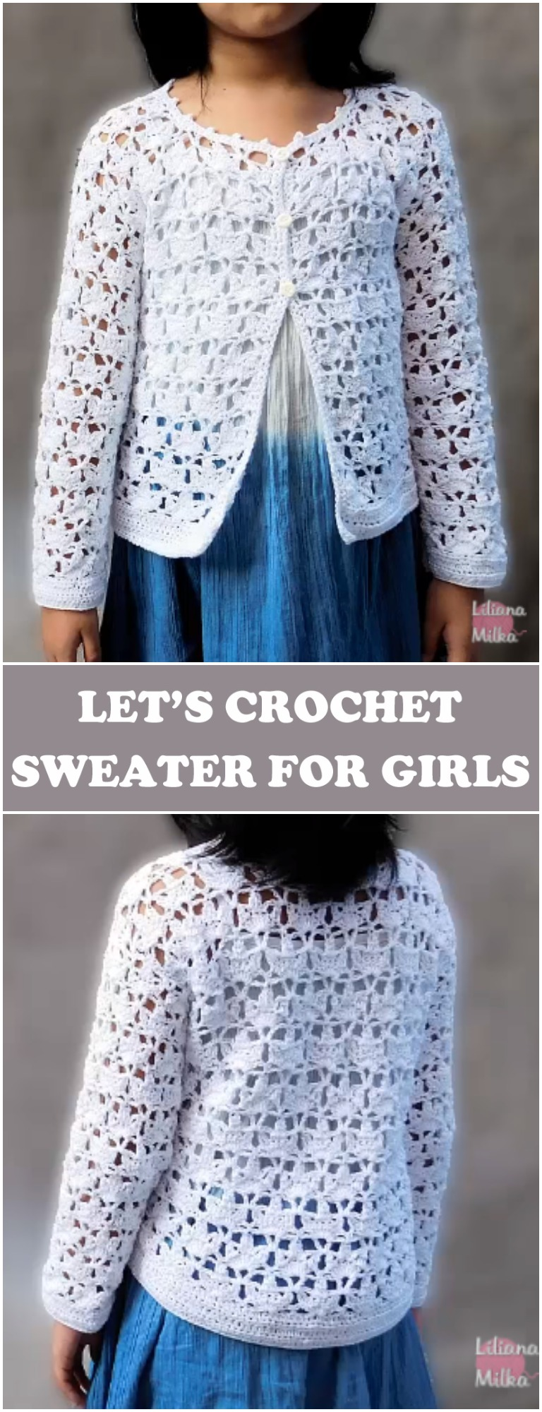 Crochet Sweater For Girls -Free Instruction[Video]
