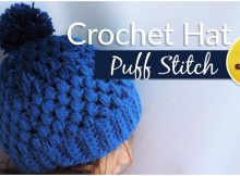 Gradient Beanie Hat Puff Stitch