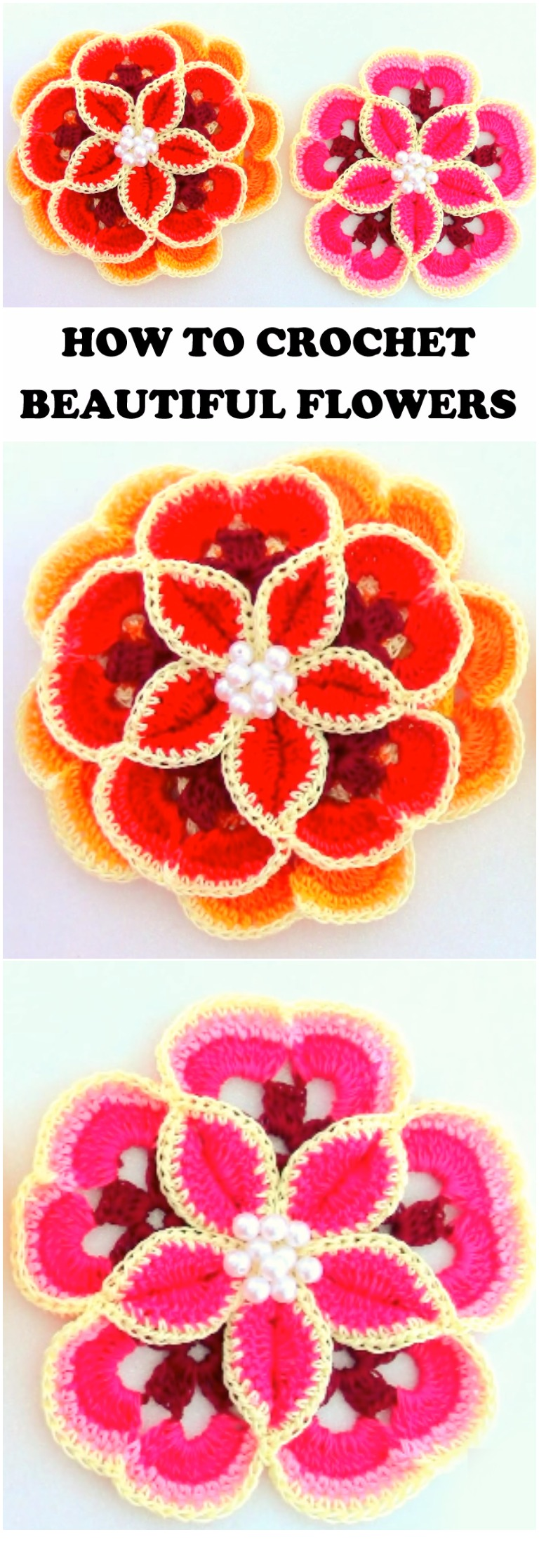 How To Crochet Beautiful Flowers