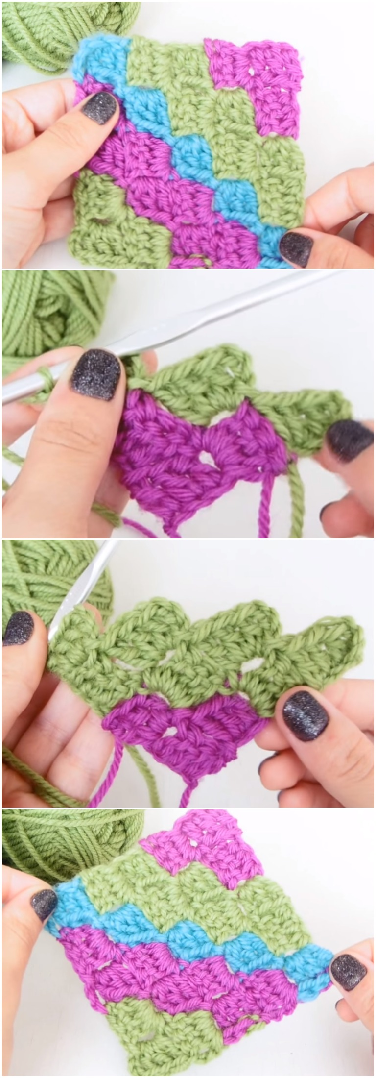 Learn To Crochet C2C Corner to Corner Free [Video] Instructions