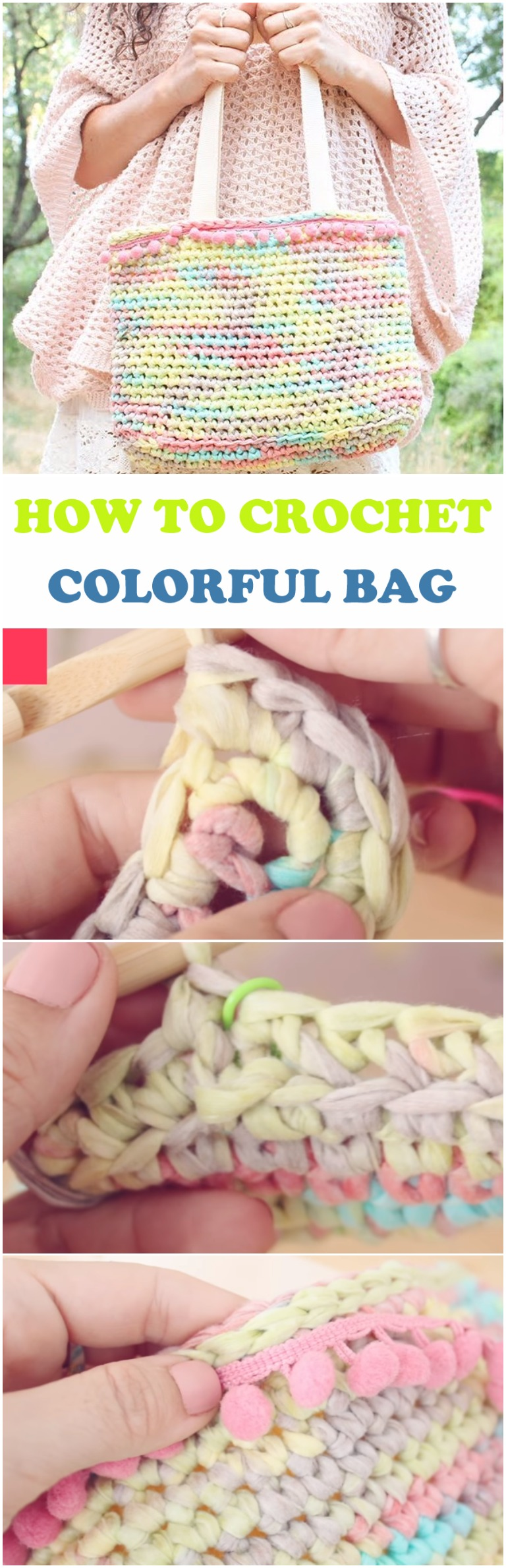 Learn To Crochet Colorful Bag