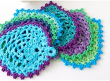 Learn To Crochet Peacock Style Pineapple Coasters Free Pattern