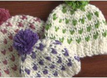 Beautiful Beanie Hat Jersey Stitch