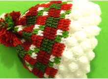 Christmas Beanie Hat With 3D Snowflakes