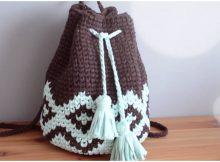 Crochet Beautiful Backpack