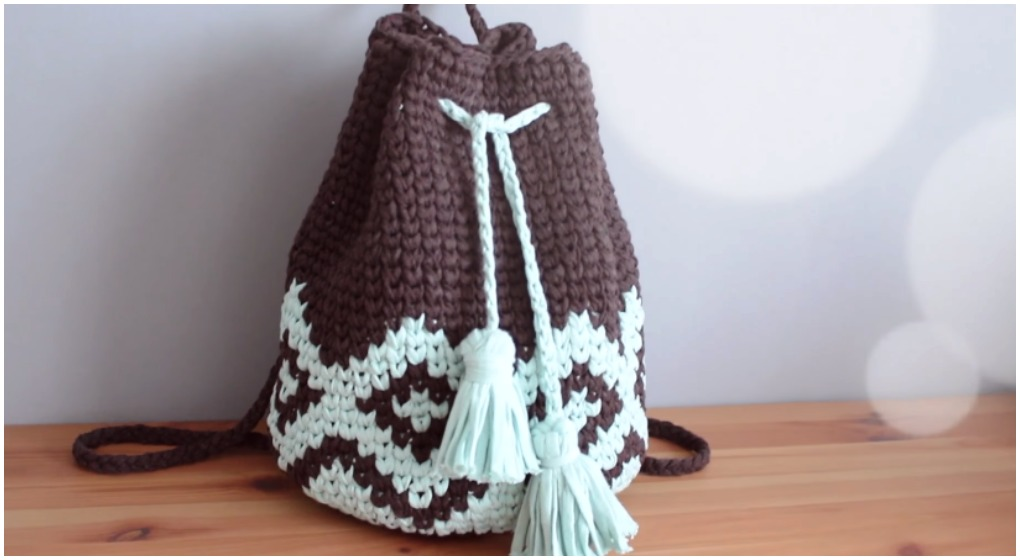 Crochet Beautiful Backpack Free Pattern Video Ilove Crochet