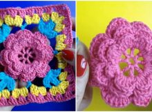 Crochet Square Flower Motif