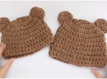 Bear Beanie Hats For Moms And Kids