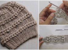 Beautiful Beanie Hat Fantasy Puff Stitch
