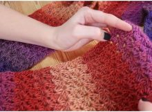 Beautiful V-Stitch Scarf